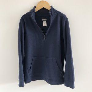 OshKosh Navy Blue 1/4 Zip Pullover Knit Top 6